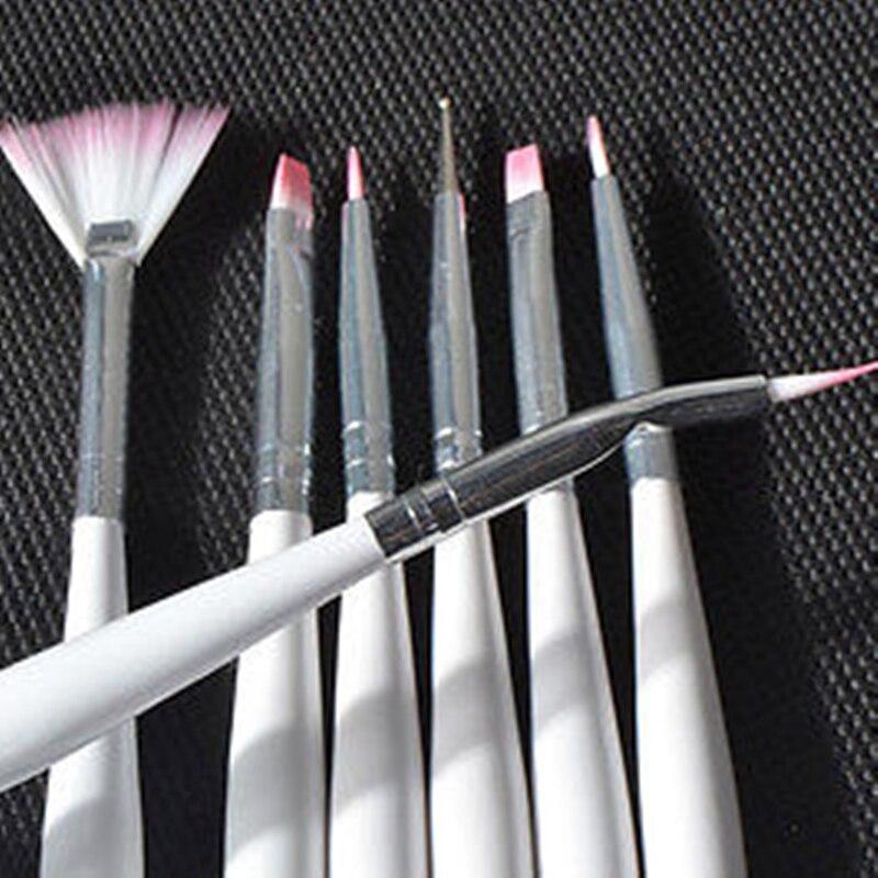 Fairyglo 7pcs Nail Art Brush Set Nail Paint Design Pen Tools Uv Gel