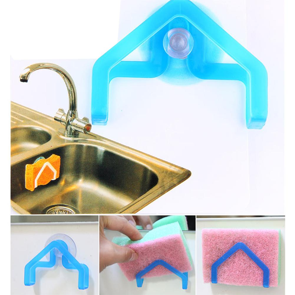 Image 4 - Strong Suction Cup Sucker Wall Hooks Hanger For Kitchen Accessories Dishcloth Sponge Scouring Cloth-in Storage Holders & Racks from Home & Garden