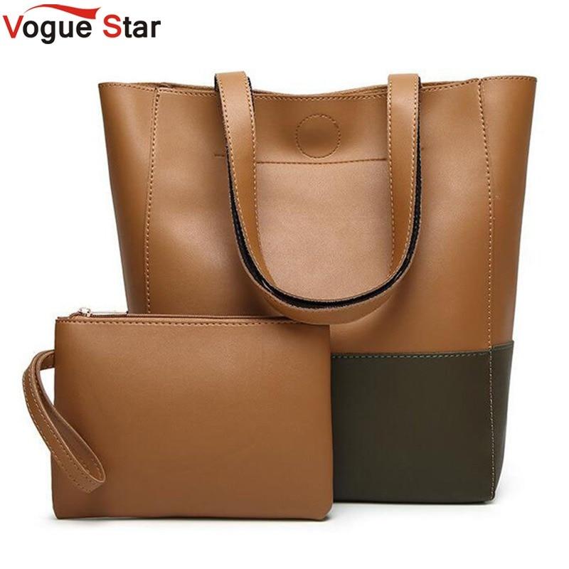 Vogue star Women Handbags Pu Leather Composite Bags Shoulder Bag Designer Bags Handbags Women Famous Brand Tote+Clutch bag  LB53