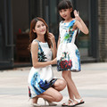 LZH 2017 Mother Daughter Dresses Family Matching Clothing Girls Party Dress Formal Teenagers Dress Costume For Kids Girl Clothes
