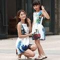 LZH 2017 Vestidos A Juego de la Familia de Madre E Hija Ropa de Niñas Adolescentes Vestido de Fiesta Formal Vestido de Traje Para Los Niños Ropa de La Muchacha