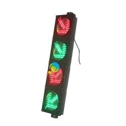 New dsign 200mm red green traffic arrow signal light four directional traffic light