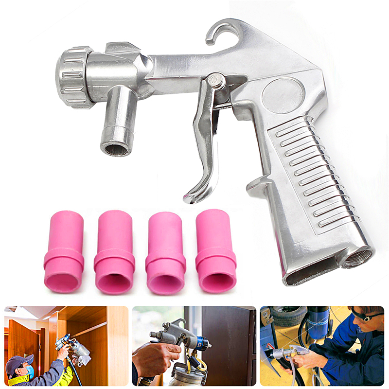Image 2 - Sandblasting Gun 7Pcs Abrasive Air Sand Blasting Gun Kit Sandblasting Machine Nozzle Tube Rust Remove for Sandblast Cabinets2019-in Spray Guns from Tools on