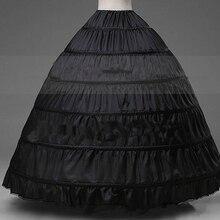 Womans Vestido de Enagua de La Crinolina para el vestido de Boda Del Vestido de Bola Enaguas negro Jupon enaguas Underskirt párr vestidos de novia