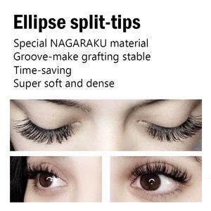 Image 5 - NAGARAKU Flat Ellipse Eyelashes Makeup Lashes Maquiagem 15 Trays lot Split Tips Natural Light Super Soft Mink Eyelashes Cilios