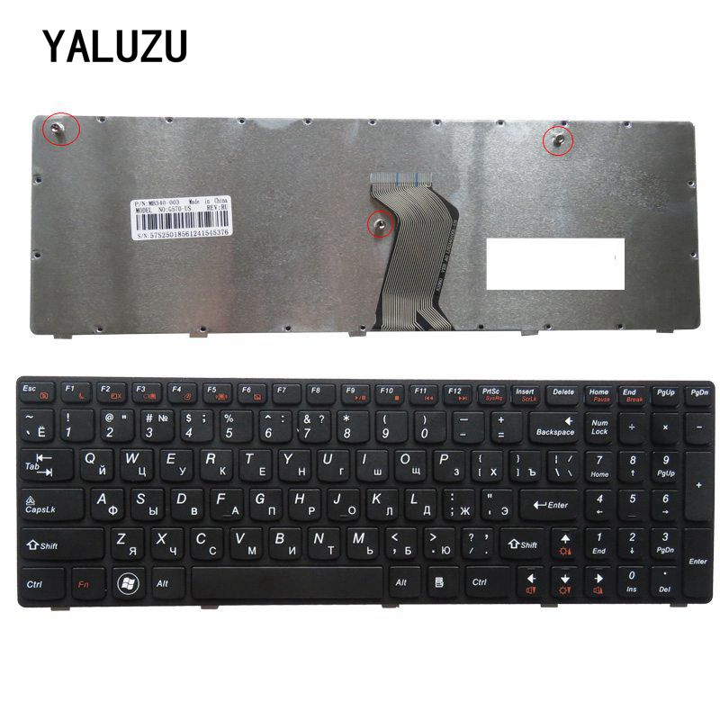 New Russian Keyboard For Lenovo G560 G565 G560A G565A G560E G560L RU Aptop Keyboard