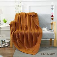 Ev Mobilya İmitasyon kaşmir örme battaniye bebek battaniye saf klima ofis şekerleme battaniye toptan 3