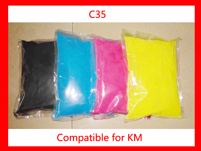 High quality color toner powder compatible for Konica Minolta Bizhub c35 Free Shipping DHL FEDEX free shipping toner refill powder compatible for konica minolta c452 high quality