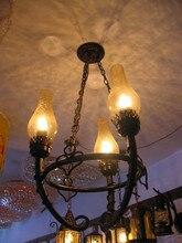 Уникальный Дизайн украшения утюг масло подвесной светильник 3 глава столовая кулон лампы паб свет бесплатная доставка