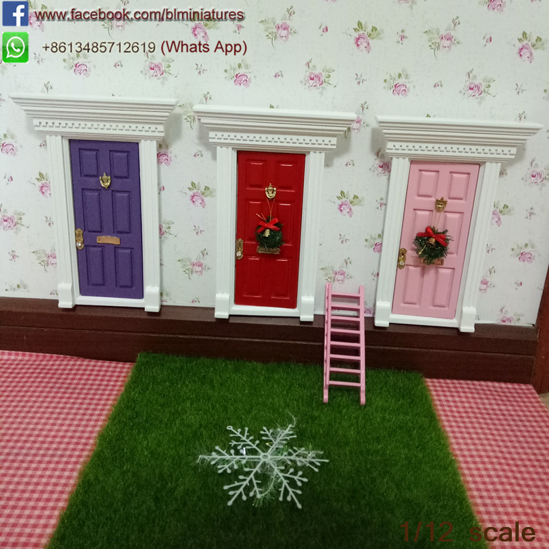 1/12 Scale Miniature Flat Top Dollhouse Door Elf Tooth Fairy Doors ... : toothfairy door - pezcame.com