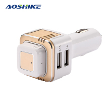 Aoshike USB Car Charger 12V Cigarette Lighter Focus Caravan Motorcycle For Cars Sockets Bluetooth Dual USB Cell Phone Car Truck