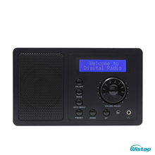 2W RMS  DAB + FM Digital Radio Bluetooth Speaker Snooze & Alarm Clock LCD Display Automatic Search Station Desktop Home Radios