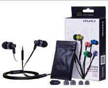 Envío gratis awei es900i en la oreja los auriculares para el iphone y el teléfono móvil