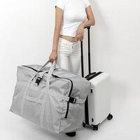 New Waterproof Folding Travel Bags Men Large Capacity Luggage Bags Portable Men Women's Air Carrier Package Tote Travel Bag