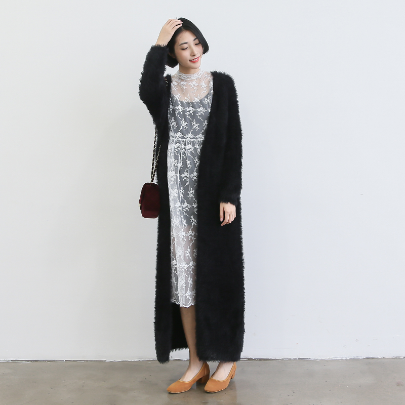 Ankle Length Sweater Coat
