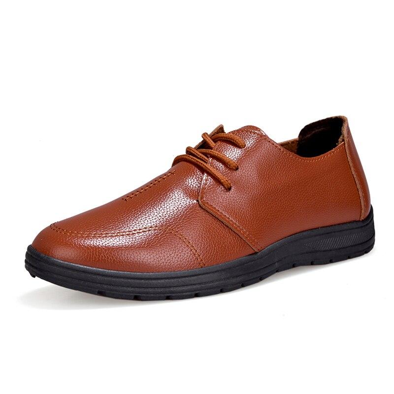 Britannique Style En Casual Noir Chaussures Entreprise Imperméable Simples 2018 marron up Dentelle Hommes Cuir Mode Mazefeng Plat De orange D'été Mâle A8pzx0w