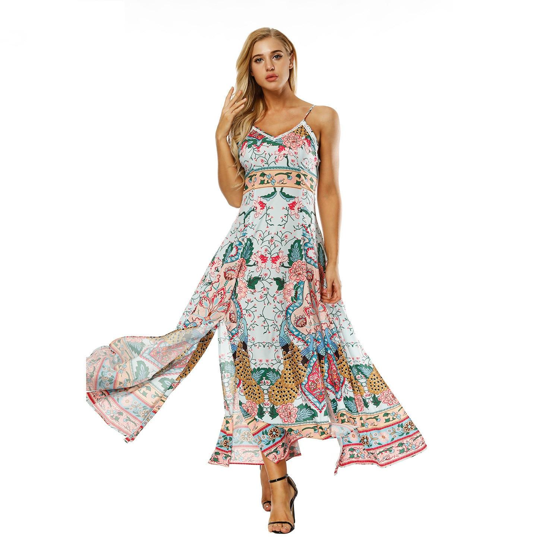 65c218ebc31b 2018 Fashion hawaii Dress vestido Classic Print Maxi Summer Dress Beach  Clothes Long Beach Bohemian Sexy Ladies Summer plus size