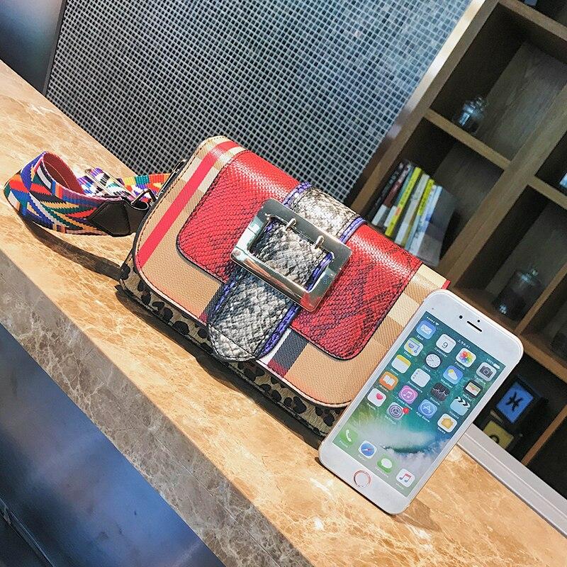 Blu Borsa Messenger Qualità Dell'unità Main rosso Flap Femminile Donne Della Spalla Alta Lusso Elaborazione Sacchetto Crossbody Di Borse Mujer Sac Bolsos A Cuoio Serpentin EBF8wq
