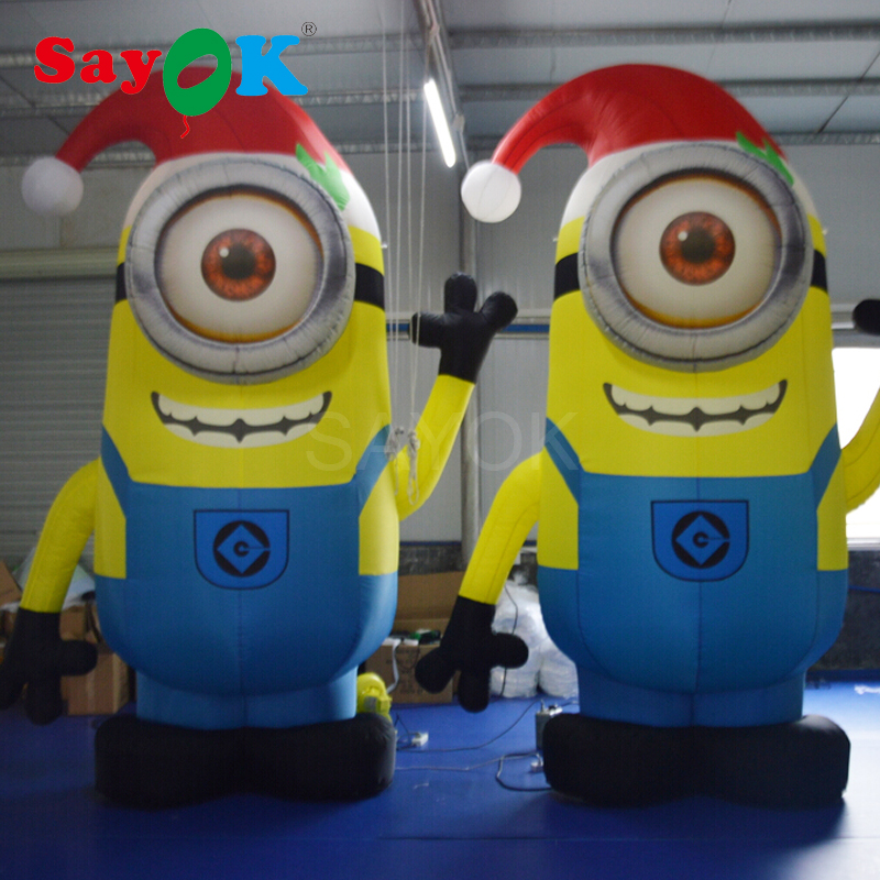 11.5feet High Inflatable Minions Model Christmas Minions Capsure American Minion for Promotion Advertising Festive Decorations