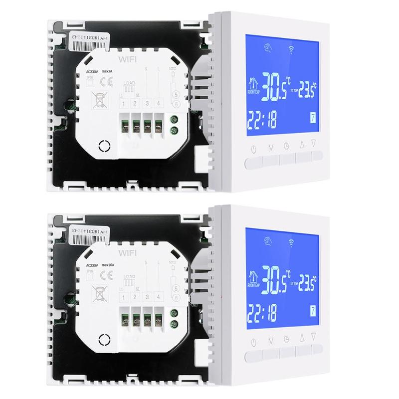 Smart LCD Touch Screen Wifi Room Underfloor Heating Thermostat Digital Wireless Temperature Controller Thermoregulator 3A/16A thp 1000gb wifi touch screen underfloor heating room thermostat digital heating thermostat