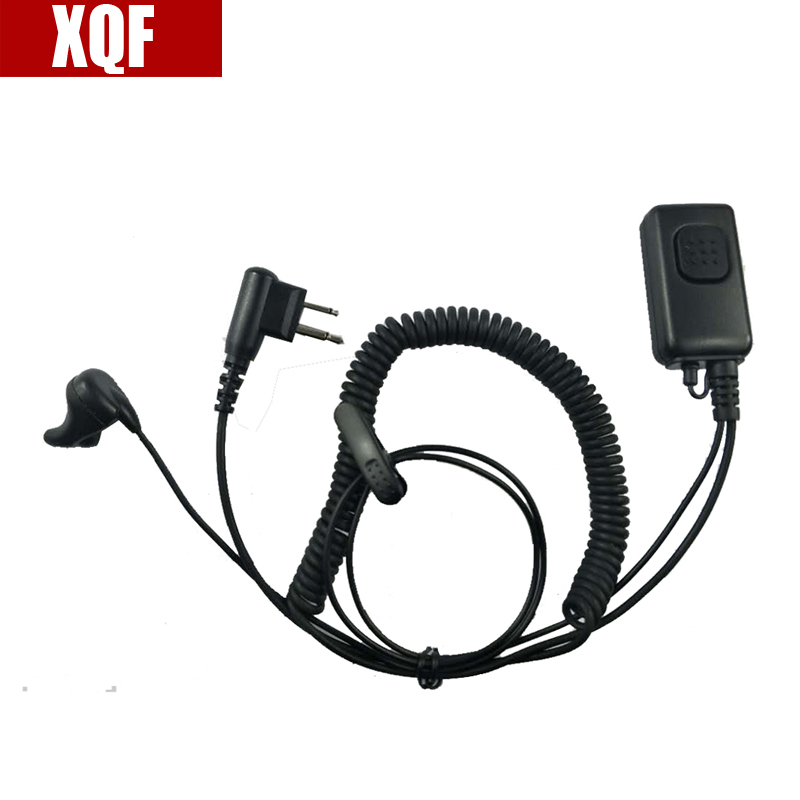 XQF 2 Pin Covert Headset/Earpiece Throat Mic For Motorola GP Series GP68 CP SP CT PRO P XTN CLS Spirit M Series Radio