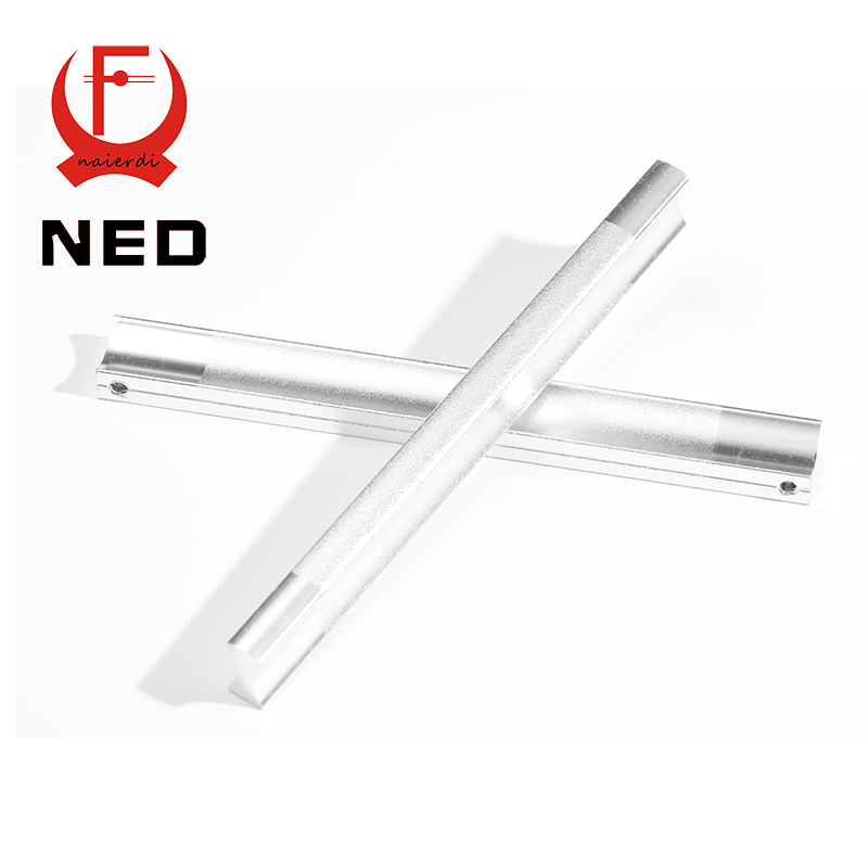 NED 128MM Aluminum Handles Kitchen Door Cupboard Modern Wardrobe Handle Drawer Pulls Cabinet Knobs With Screw Furniture Hardware high quality 1pc concise door handle gold hardware kitchen cupboard cabinet handles wardrobe handle drawer pull 96mm 128mm