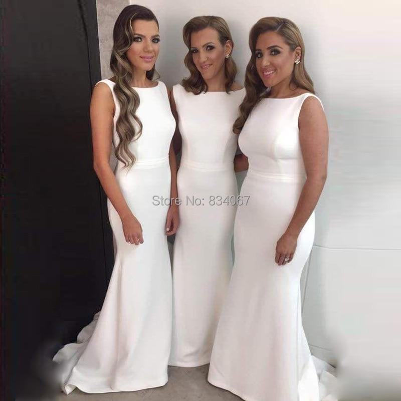 Vestidos blancos para damas de honor