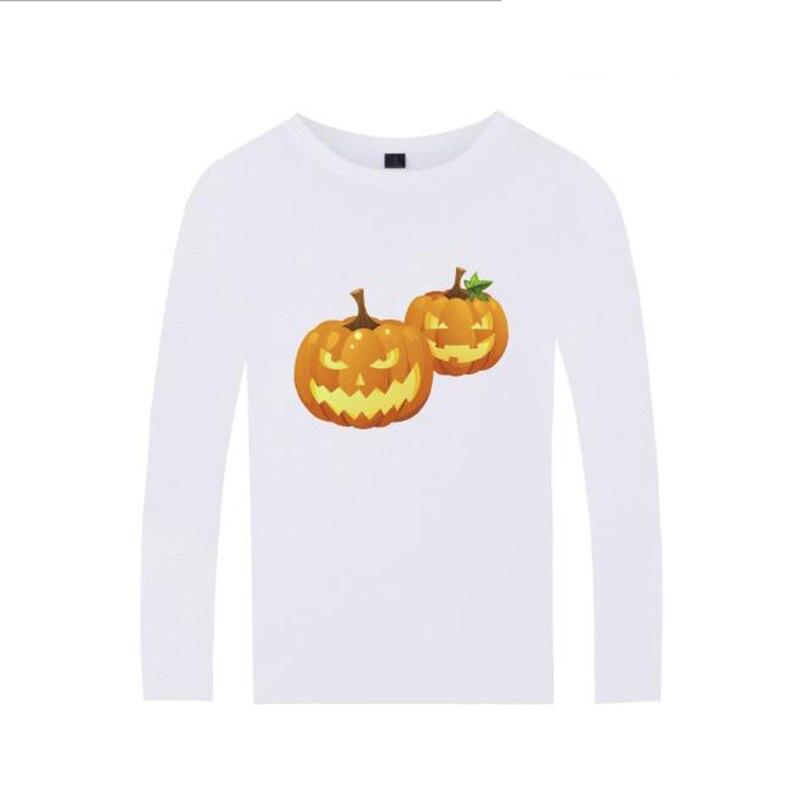 Halloween T Shirt For Men Women Funny Pumpkin Printed Tshirt O-Neck Long Sleeve Cotton T-Shirt Harajuku Hip Hop Tee Shirt Femme