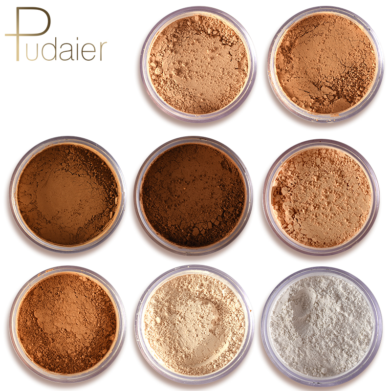 New pudaier Brand Oil Control Powder Makeup Long Lasting Bronzer Matte Mineral Dark Skin Contour Loose Face Powder image