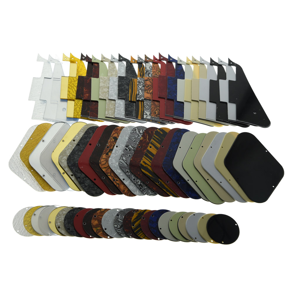 Lp pickguard & back placa interruptor cavidade cobre se encaixa para lp várias cores