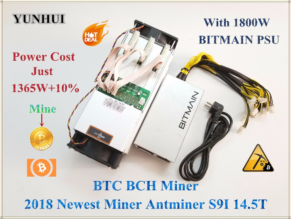 Date AntMiner S9i 14.5 t Avec BITMAIN APW7 1800 w PSU Asic Mineur Bitcoin Mineur Btc BCH Mineur Mieux Que antminer S9 S9i 13.5 t