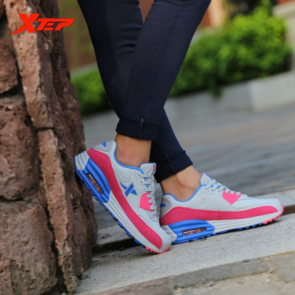 XTEP Brand Running For Women Athletic Trainers Cushion Damping Non-slip Ladies Sports Shoes Air MEGA Sneakers 2017brand sport mesh men running shoes athletic sneakers air breath increased within zapatillas deportivas trainers couple shoes