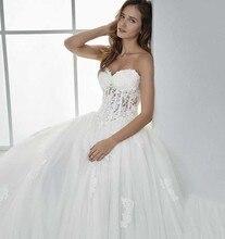 Smileven Sweetheart Wedding Dress Appliqued Strapless Lace Bride 2019 Up Back Gowns Boho Vestido De Novia