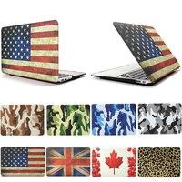 英国米国ca旗表面フル保護迷彩fundas capaラップトップカバーmacbookの空気11 13プロ13 15プロ網膜12