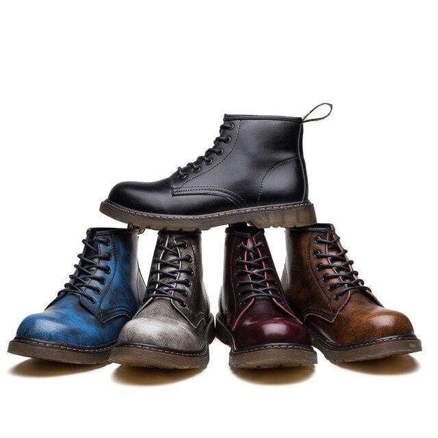 Erkek botları büyük boy kış hakiki deri marka sıcak satış tasarımcı moda erkek patik # MXZ8309159