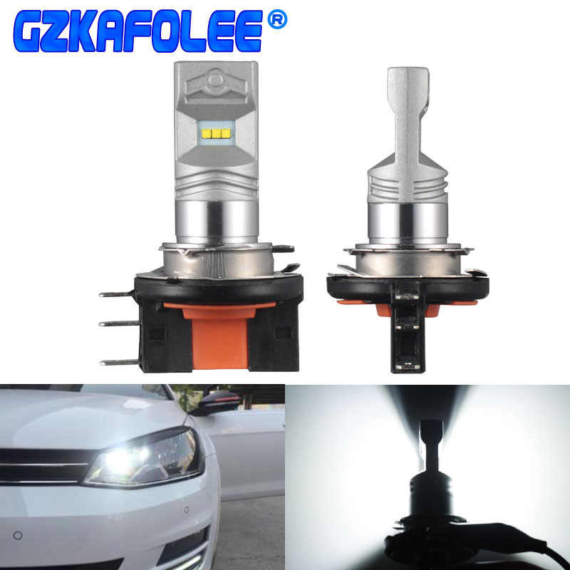 GZKAFOLEE 2X H15 LED 20W Car Auto Day time Running Lights Lamp Replacement Car Headlight Bulbs1800LM 6000K For A180 A260 A6 A3