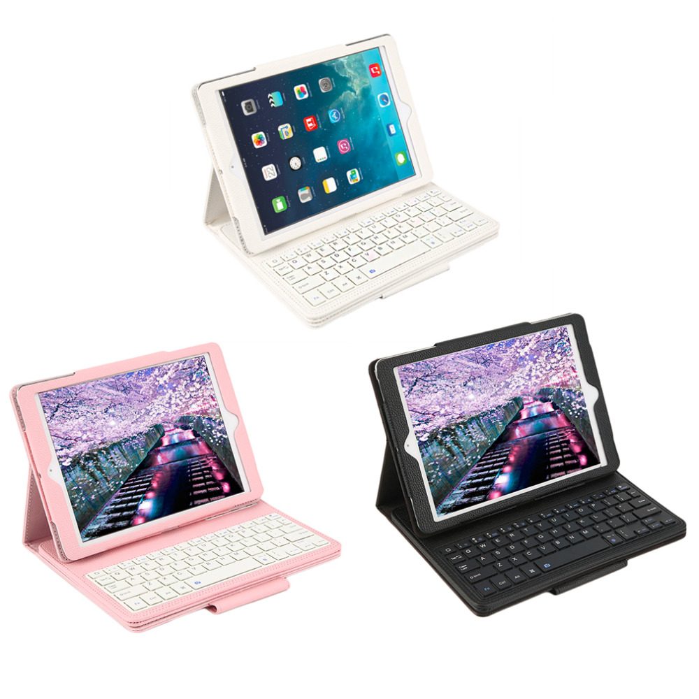 Bluetooth Tablet Keyboard Case Built-In Stand Wireless Keyboard Cover for iPad Pro 9.7 Drop Shipping new built in battery wireless bluetooth keyboard pu leather stand case cover for ipad mini 4 tablet qjy99