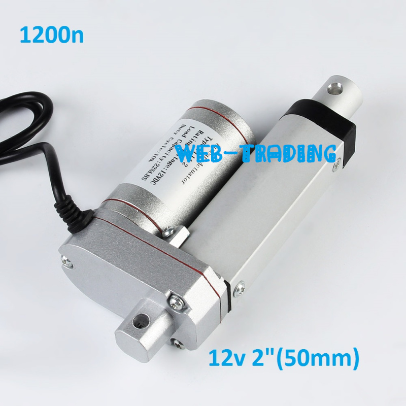 12V/ 1200N=120KG 6.5mm/s mini electric linear actuators ,Stroke 50mm=2 inches, tubular motor motion,Free shipping