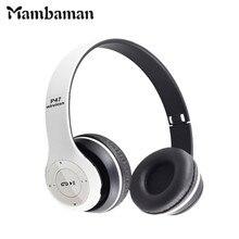 P47 Auriculares Bluetooth Inalámbrico Auriculares Manos Libres Para el iphone 7 Samsung Xiaomi Auricular Bluetooth Con MF/Tf bass Earpod
