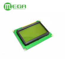 New 10PCS 12864 128x64 Dots Graphic Green Color Backlight LCD Display Module for arduino raspberry pi