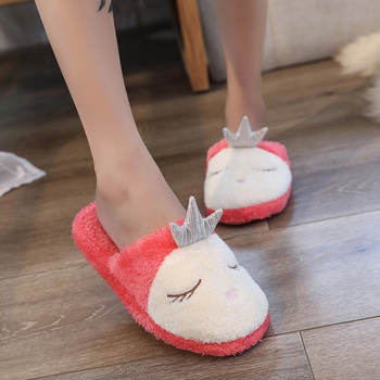 796d4258588d4b Lovely Women Home Slippers Warm Winter Cute Indoor House Shoes Woman Pink  Soft Bottom Bedroom Ladies ...