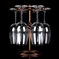 Decorative Racks Wine Bottle Holder Hanging Upside Down Glass Cup Goblets Display Rack Iron Wine Stand