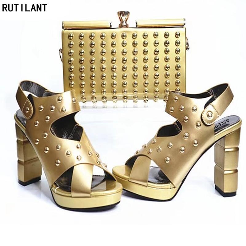 Mujeres Emparejan Conjuntos Gratis Bolsos oro Juego Envio púrpura Las Negro rojo Con Para blanco Nigerianas azul Que Boda Bolsa Los Italiano Zapatos Hacer x057HaXwxq
