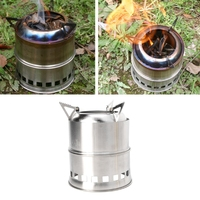 Camping Backpacking Stove Potable Stainless Steel Wood Burner Picnic BBQ Cooking 20 25W