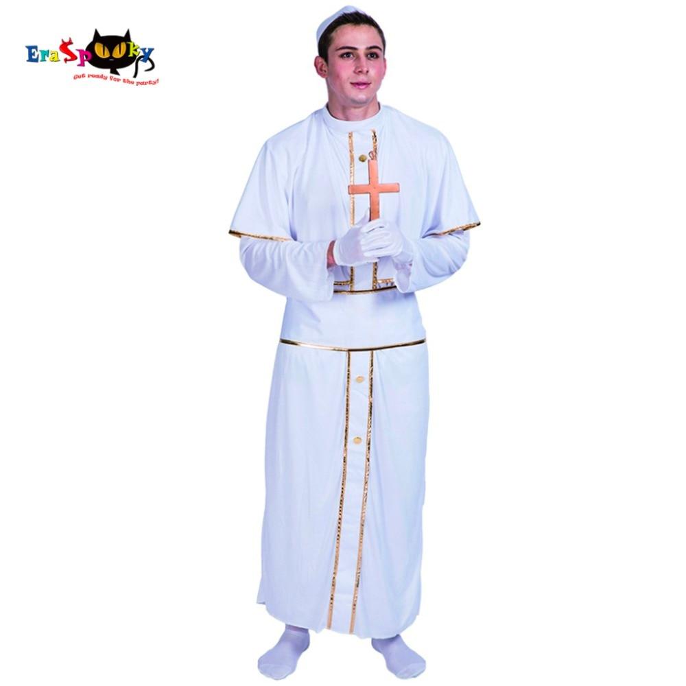 Erwachsene Männer Papst Pastor Priest Klerus Kostüme Weiß Robe ...