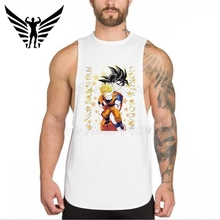 Muscleguys New Brand Super Saiyan Goku and Gohan design Mens tank tops funny cool shirt cartoon printed Gyms singlets Vest