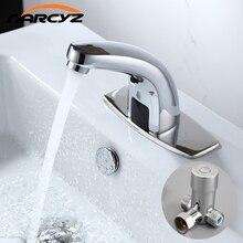 Sıcak ve Soğuk Banyo Otomatik Dokunmatik Ücretsiz Sensör Musluk su tasarrufu Endüktif elektrikli Su Dokunun mikser pil güç HZY-21