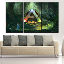 Modern Painting Framework Art Poster 3 Panel Game ARK Survival Evolved Wall Modular Picture Home Decor On Canvas Print Type