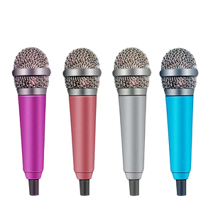 4Color Handheld Mic Portable Mini 3.5mm Stereo Studio Microphone For Laptop PC Desktop Mic KTV Karaoke 5.5cm*1.8cm