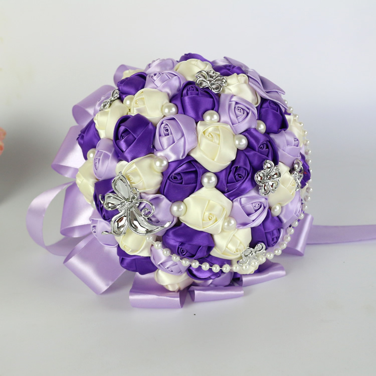 Wholesale Flowers For Weddings Events: Free Shipping Korean Wedding Bride Holding Flowers